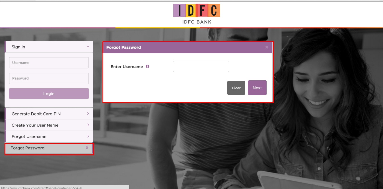 IDFC Bank Online Banking Login